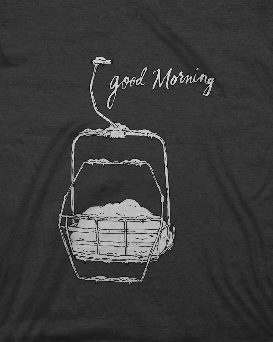 Youth Good Morning Tee - Charcoal