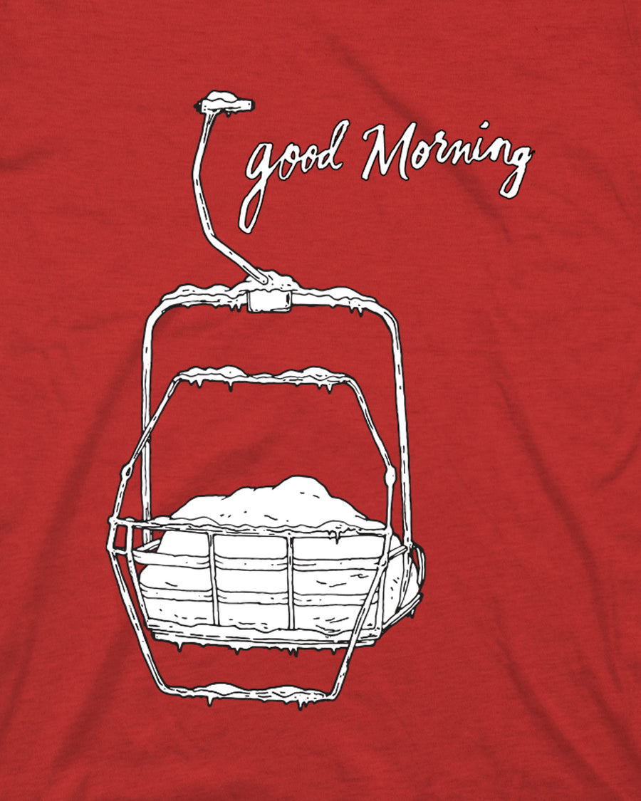 Youth Good Morning Tee - Cardinal