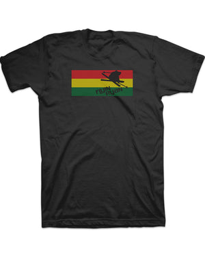 Flyin Ryan Rasta Flag Tee  - Black