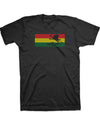 Women's Flyin Ryan Rasta Flag Tee  - Black