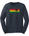 Flyin Ryan Rasta Flag Longsleeve - Navy