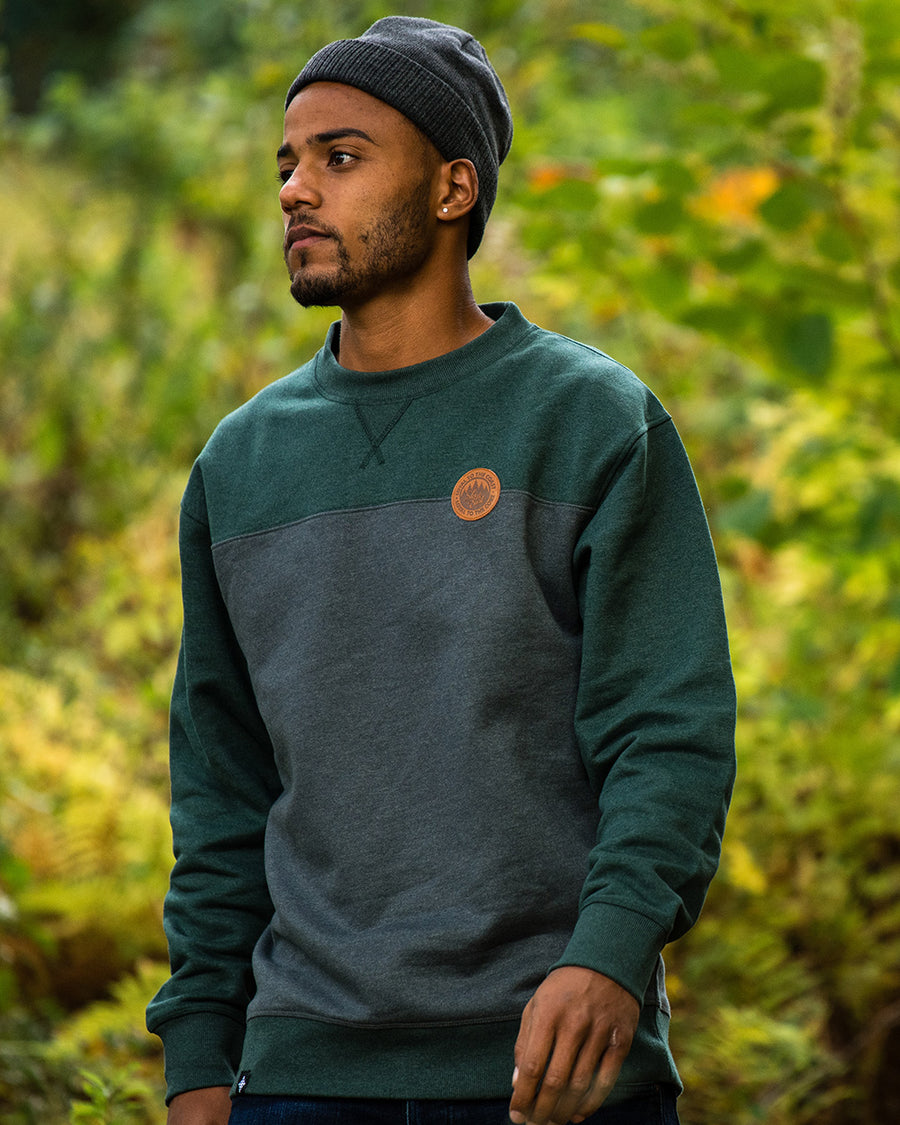 Quarry Crew Sweatshirt - Forest/Charcoal