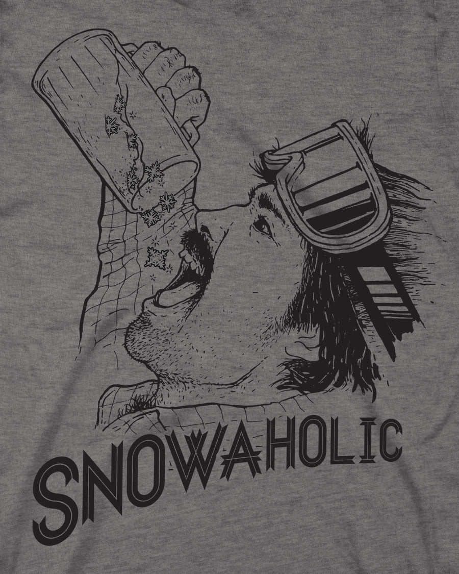 Snowaholic Tee - Medium Gray
