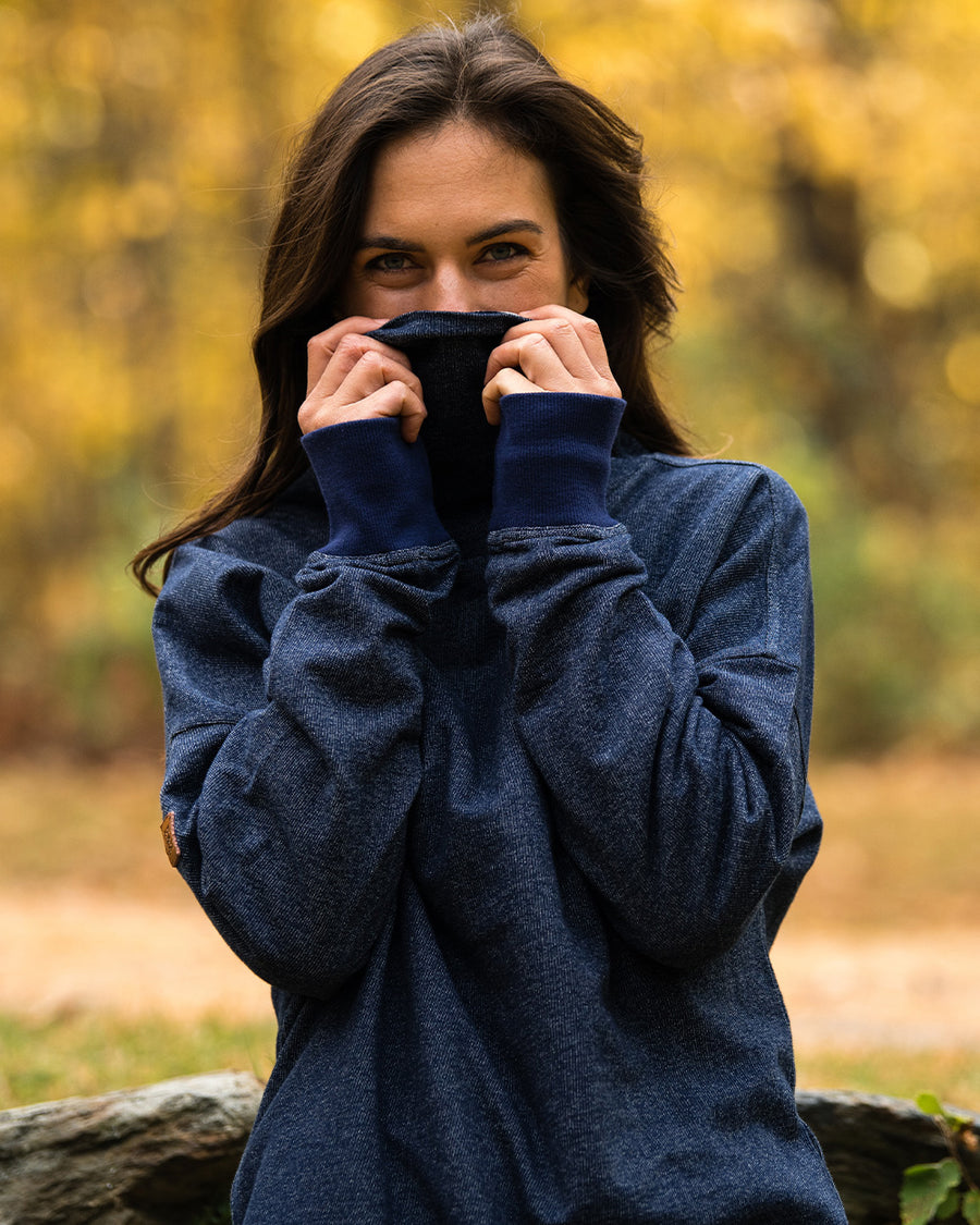 Women's Pinnacle Funnel Neck - Navy