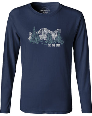 Women's Head For The Hills Longsleeve - Navy