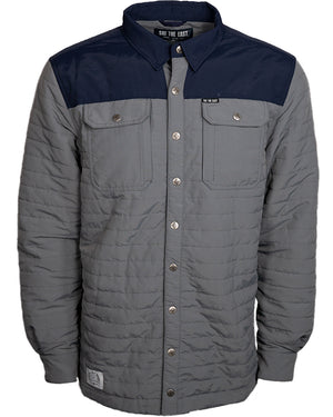 Powder Hunter Puffy Snap Shirt - Granite