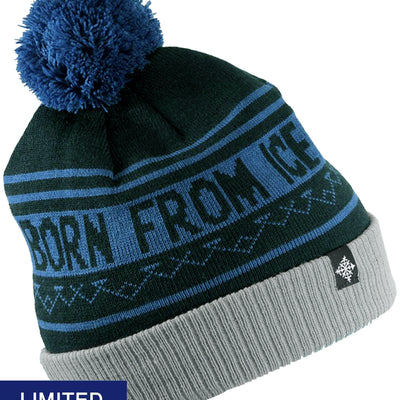 Born From Ice Pom Beanie - Black