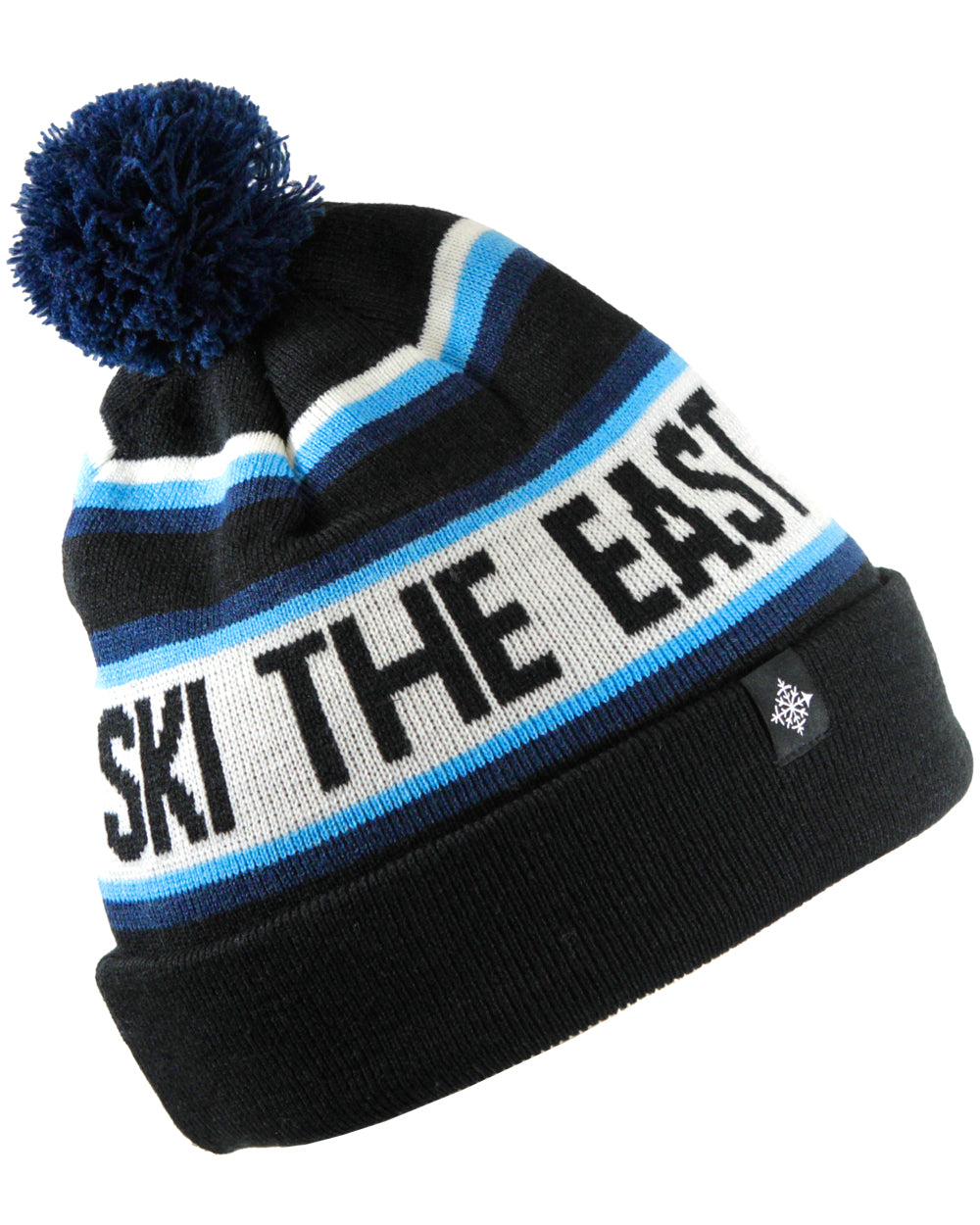 bee0549edc5 Tailgater Pom Beanie - Black - Ski The East