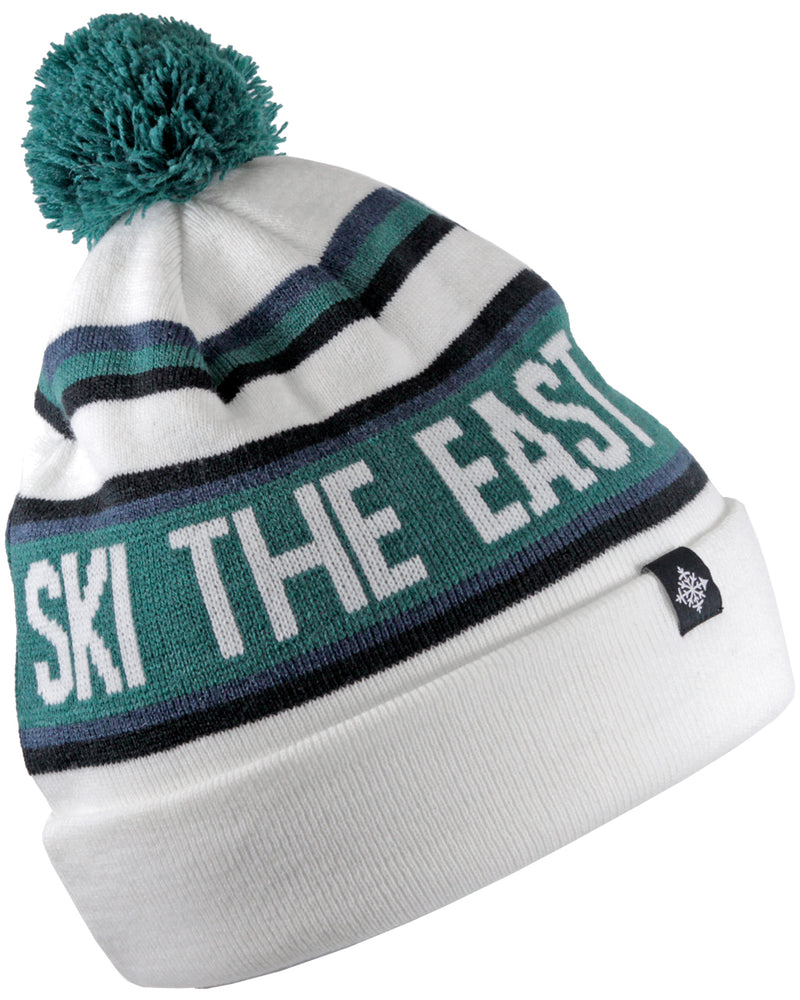 22d6949002a Tailgater Pom Beanie - White - Ski The East