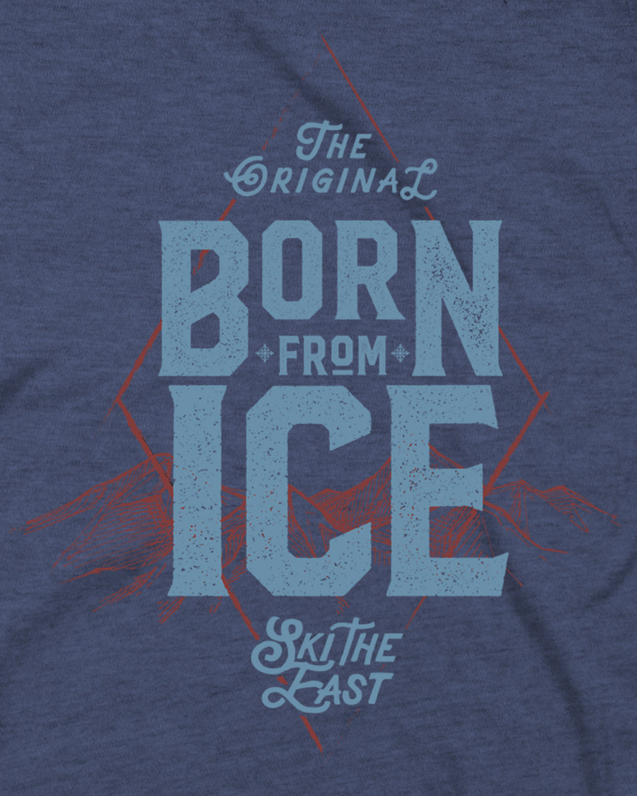 Born From Ice Tee - Midnight Navy
