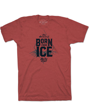 Born From Ice Tee - Cardinal