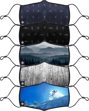Adult Face Mask - Alpine 5 PACK