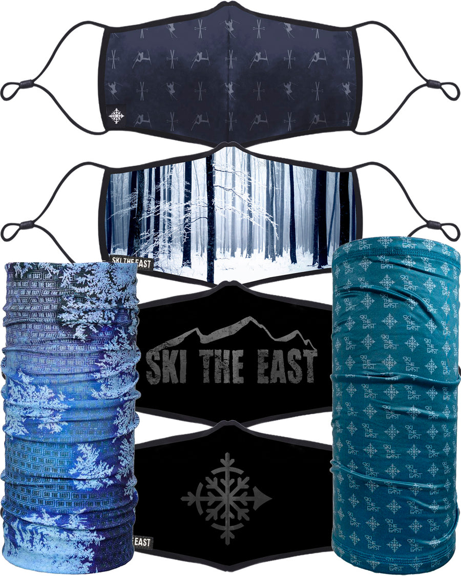 Adult Face Mask - East Coast 4 PACK + Necktubes