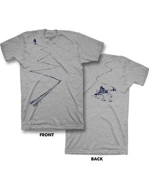 Earn Your Turns Tee - Gray