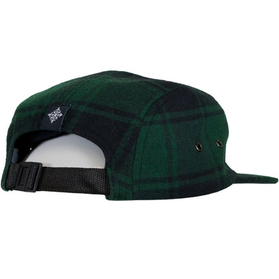 Small Mountain 5 Panel Hat - Green