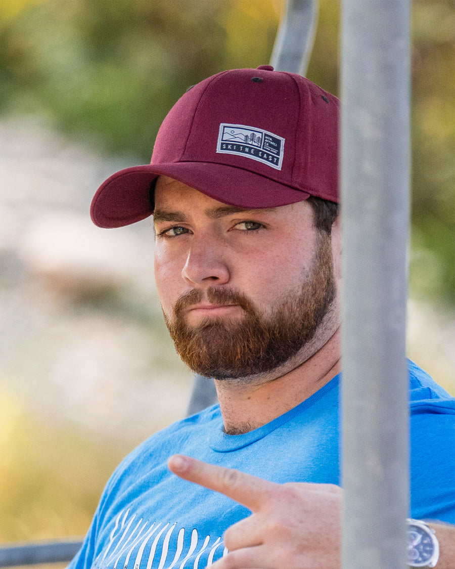 Alpenglow Stretch Fit Hat - Maroon