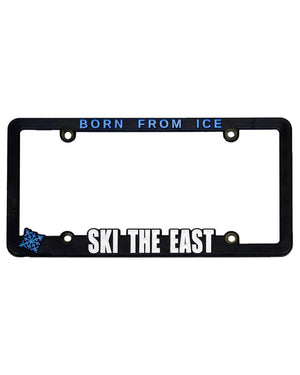 Ski The East License Plate Frame - Black