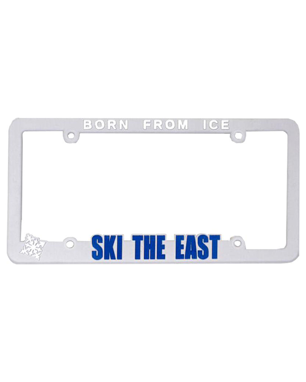 License Plate Frame - White - Ski The East