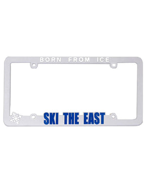 License Plate Frame - White