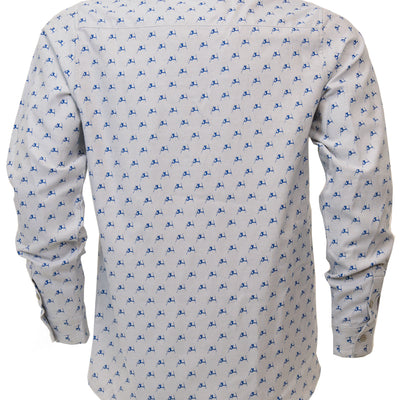 Daffy Oxford Shirt - Gray Cloud