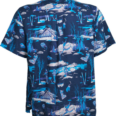 Sun Daze Aloha Shirt - Gnarly Navy
