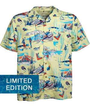 Sun Daze Aloha Shirt - Yowza Yellow