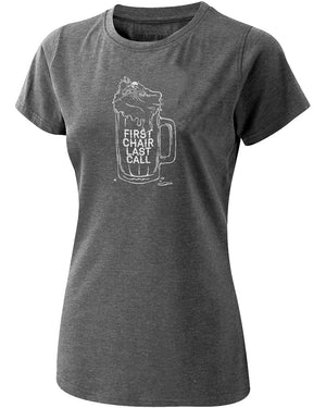 Women's First Chair Last Call Tee - Charcoal