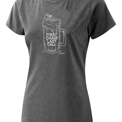 Womens First Chair Last Call Tee - Charcoal