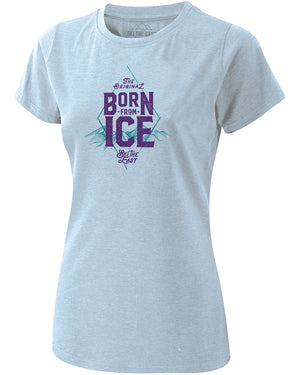 Womens Born From Ice Tee - Sky Blue