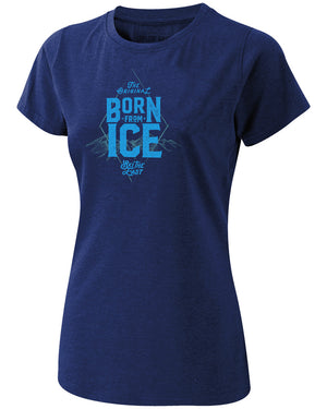 Women's Born From Ice Tee - Midnight Navy