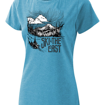 Womens Mystic Mountain Tee - Ice Blue