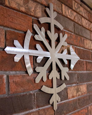 Flake Metal Wall Sculpture - Brushed