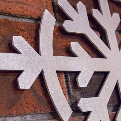 Flake Metal Wall Sculpture - Sanded