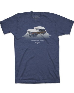 Wicked Nor'Eastah Tee - Midnight Navy