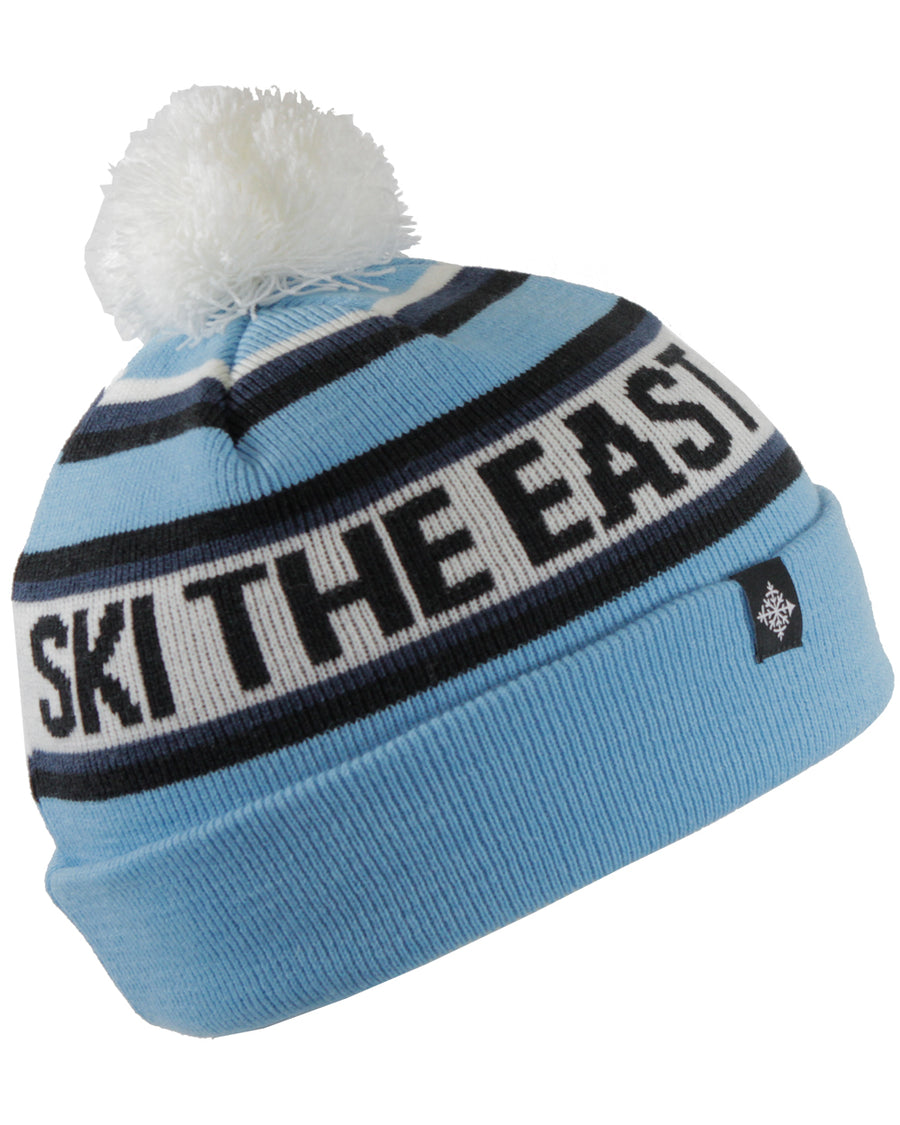 Youth Tailgater Pom Beanie - Ice Blue