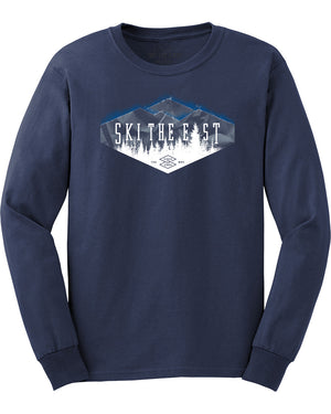 Youth Valley Longsleeve Shirt - Navy