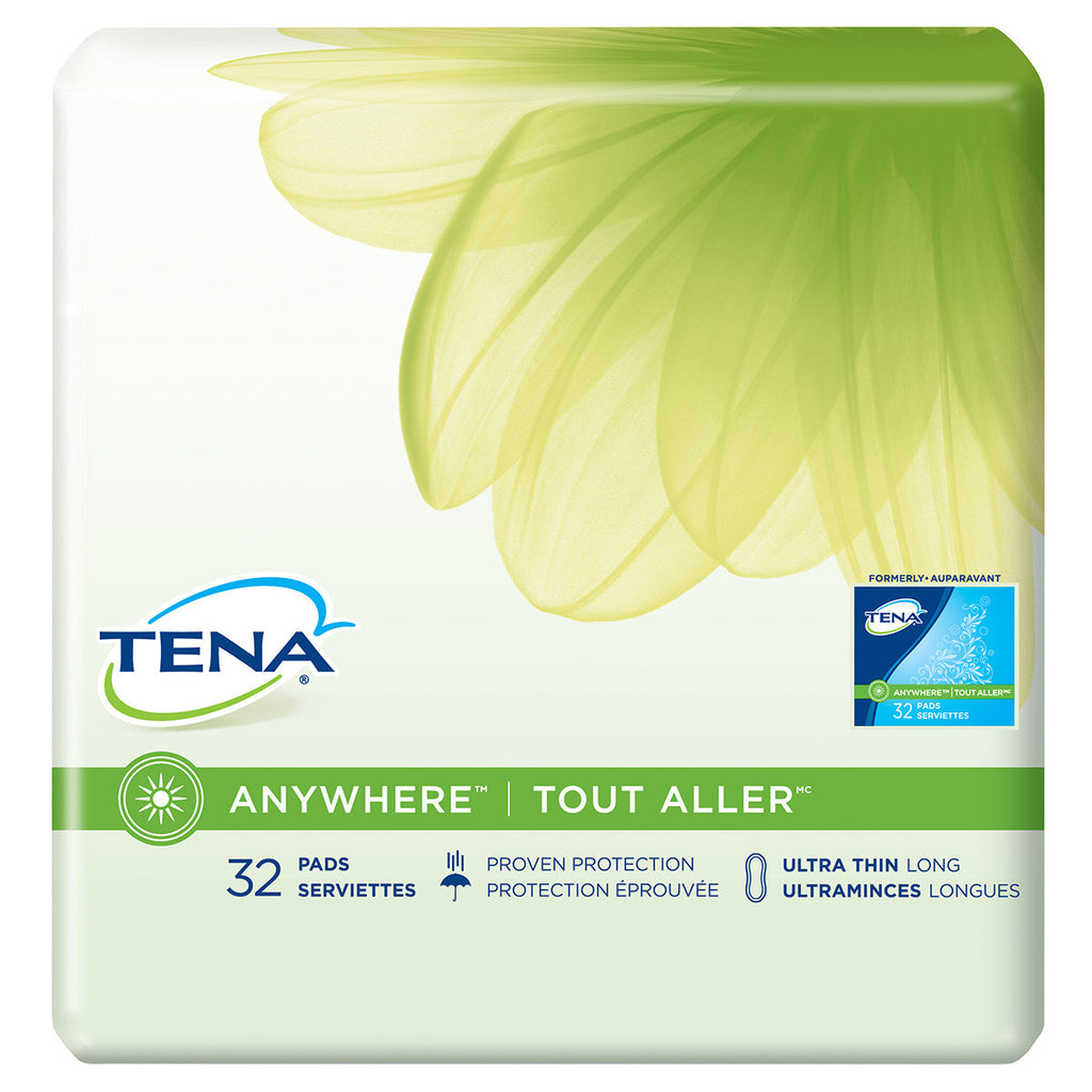 TENA® ANYWHERE™ Ultra Thin Pads Long