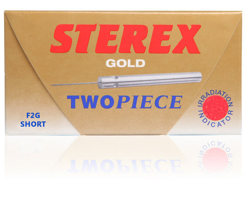 Sterex Gold Two Piece Probes  |  Short F Shank