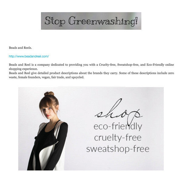 Stop Greenwashing