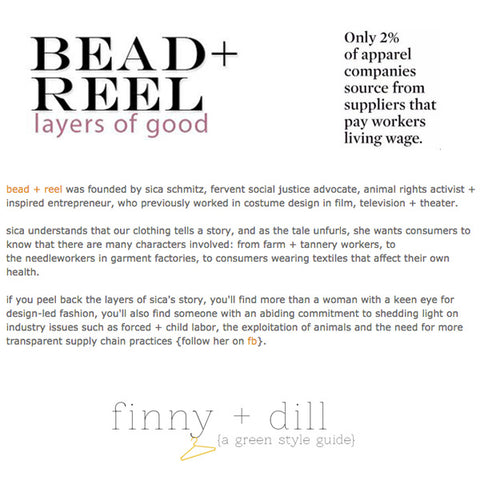 Finny + Dill Eco Boutique of the Week: Bead & Reel
