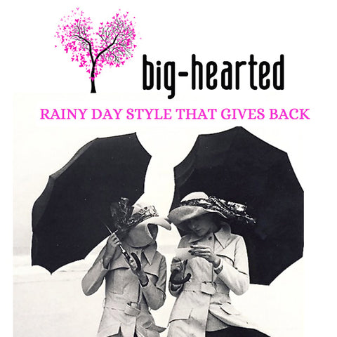 Big Hearted: Rainy Day Style That Gives Back featuring Bead & Reel