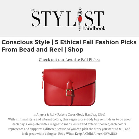 The Stylist Handbook Conscious Style | 5 Ethical Fall Fashion Picks From Bead and Reel | Shop
