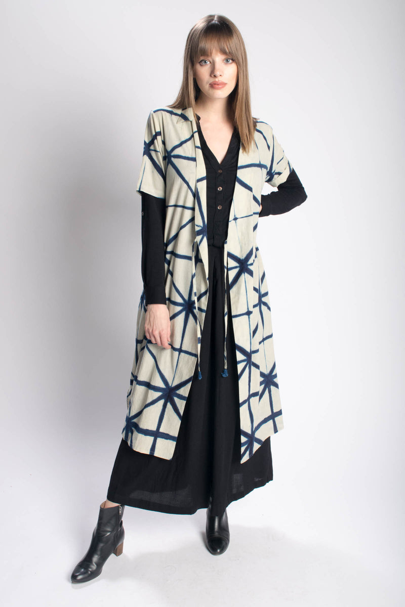 Rujuta Sheth Nova Wrap Dress Coat Bead & Reel