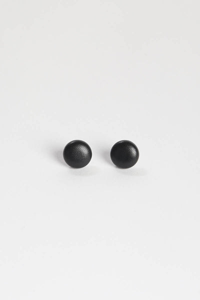 Vegan Leather Stud Earrings