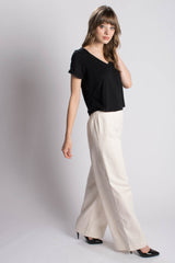 Orgotton High Waisted, Wide Leg Pants Bead & Reel