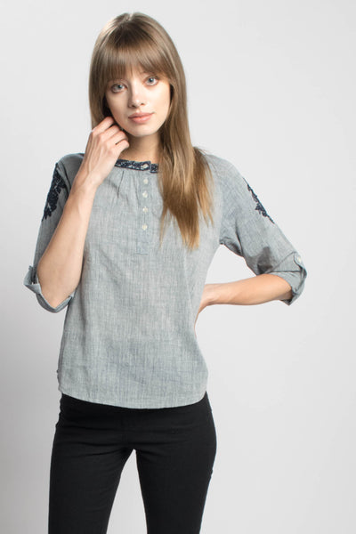 Embroidered Natalie Blouse