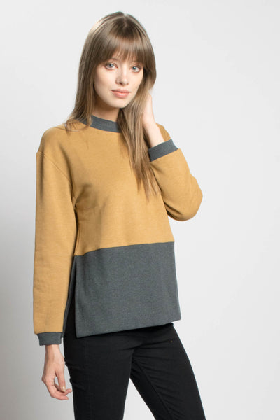 Maxi Ribbed Sweatshirt