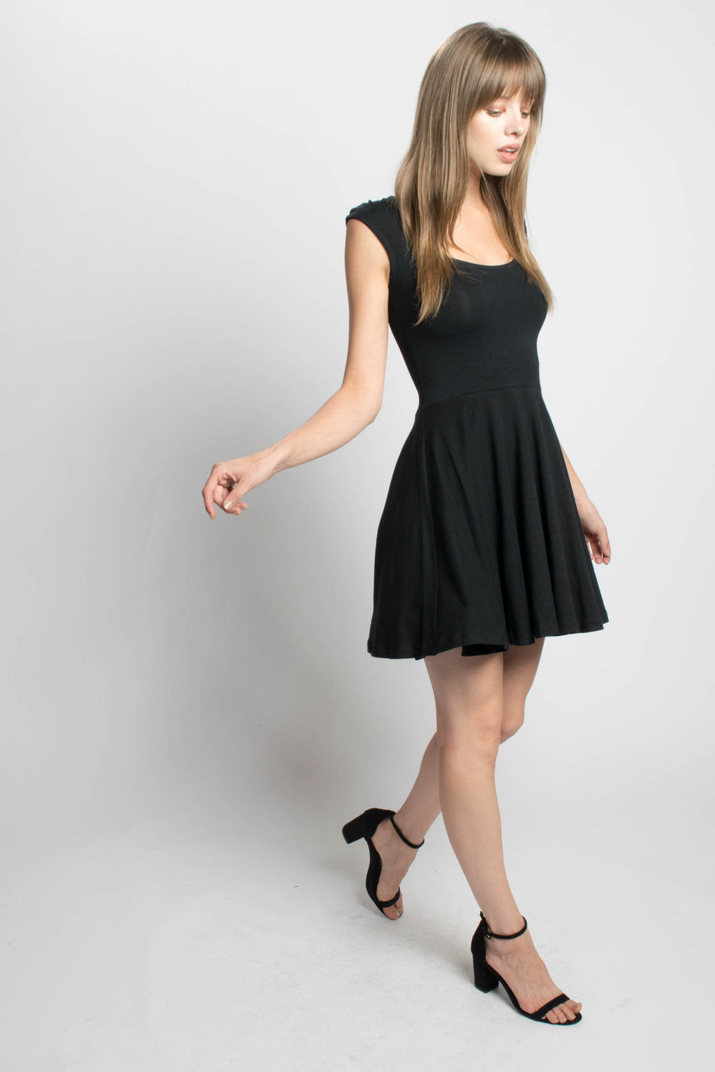 Devinto Fiona LBD Skater Dress Bead & Reel