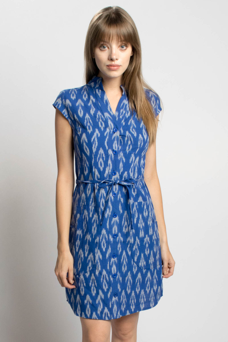 Passion Lilie Cobalt Blue Button Dress Bead & Reel