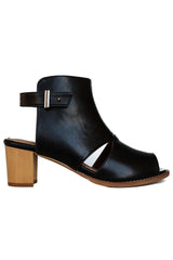 Black Vegan Alden Cut-Out Bootie - Bhava